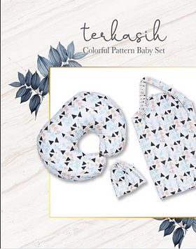 Terkasih Colorful Pattern Baby Set